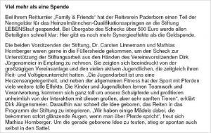 """""""Family & Friends"""" - Reitverein Paderborn"""